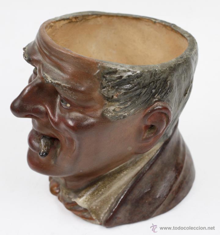 Arte: Busto en terracota, firmado: BUXÓ, OLOT. 12,5 CM DE ALTURA. Ver fotos anexas - Foto 4 - 47137487