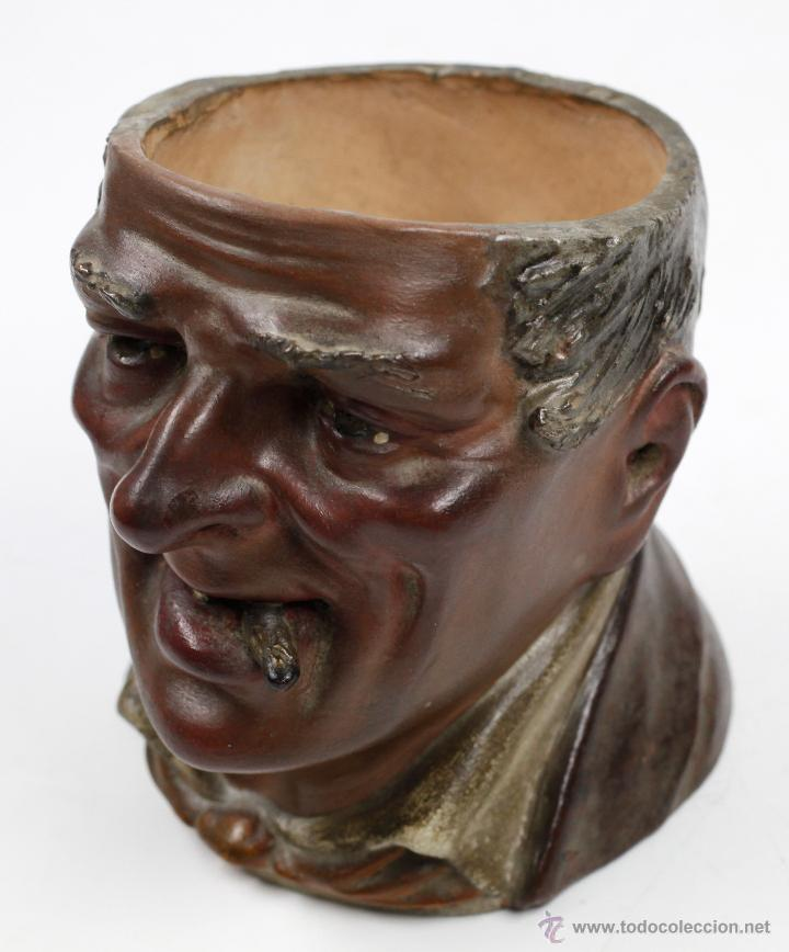 Arte: Busto en terracota, firmado: BUXÓ, OLOT. 12,5 CM DE ALTURA. Ver fotos anexas - Foto 8 - 47137487