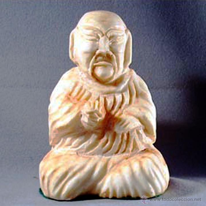 MUY BONITO BUDA TALLADO EN ALABASTRO COLOR ROSA SALMON. ALTURA 24 CM. PESO 5 KG. (Arte - Escultura - Alabastro)