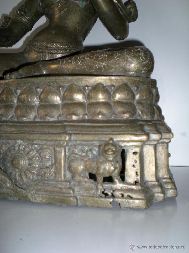 Arte: preciosa diosa SHIVA la india en bronce principios de siglo XX muy buen estado 44 cm - Foto 4 - 47697090