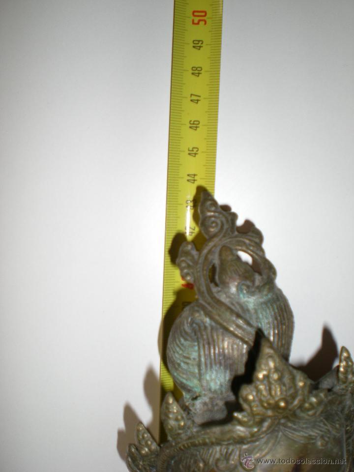 Arte: preciosa diosa SHIVA la india en bronce principios de siglo XX muy buen estado 44 cm - Foto 5 - 47697090