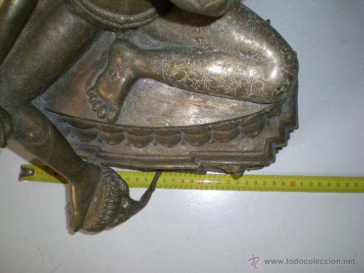 Arte: preciosa diosa SHIVA la india en bronce principios de siglo XX muy buen estado 44 cm - Foto 6 - 47697090