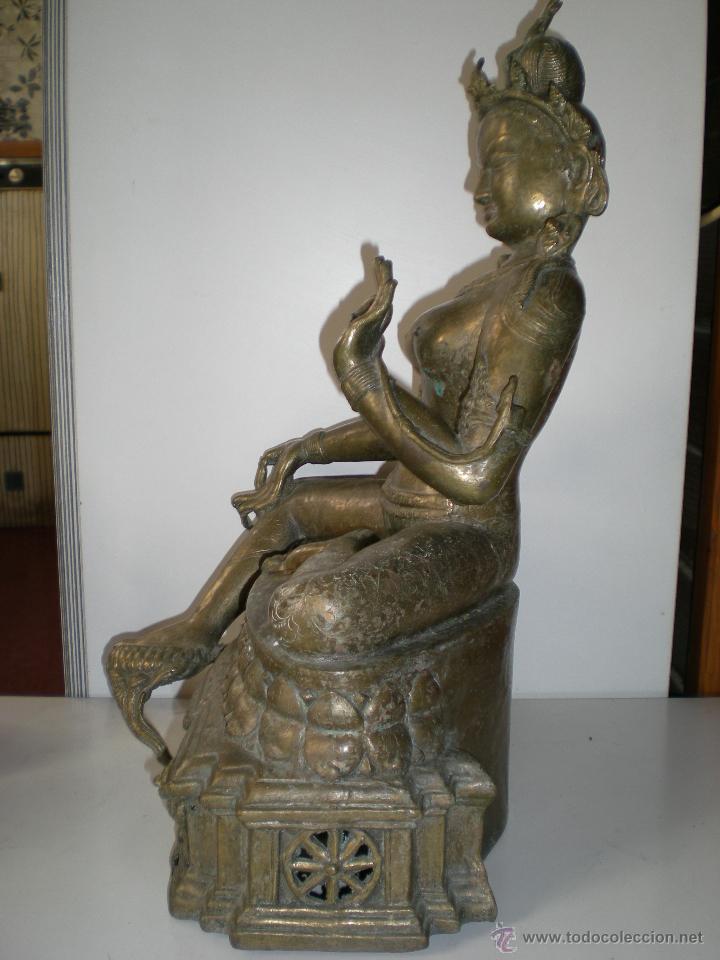 Arte: preciosa diosa SHIVA la india en bronce principios de siglo XX muy buen estado 44 cm - Foto 8 - 47697090
