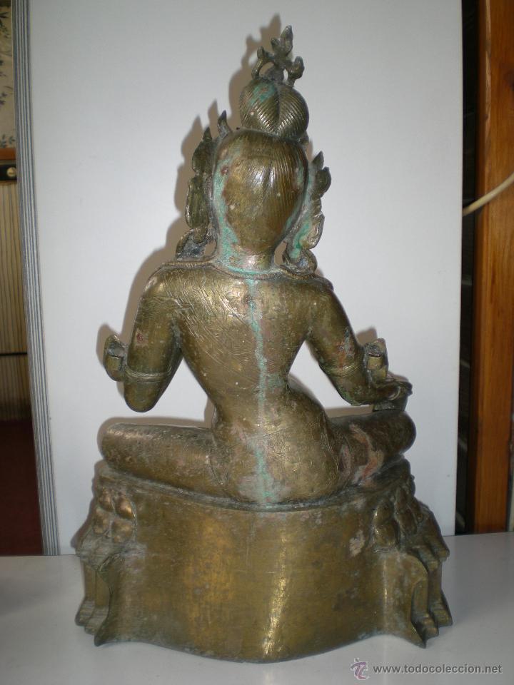 Arte: preciosa diosa SHIVA la india en bronce principios de siglo XX muy buen estado 44 cm - Foto 9 - 47697090