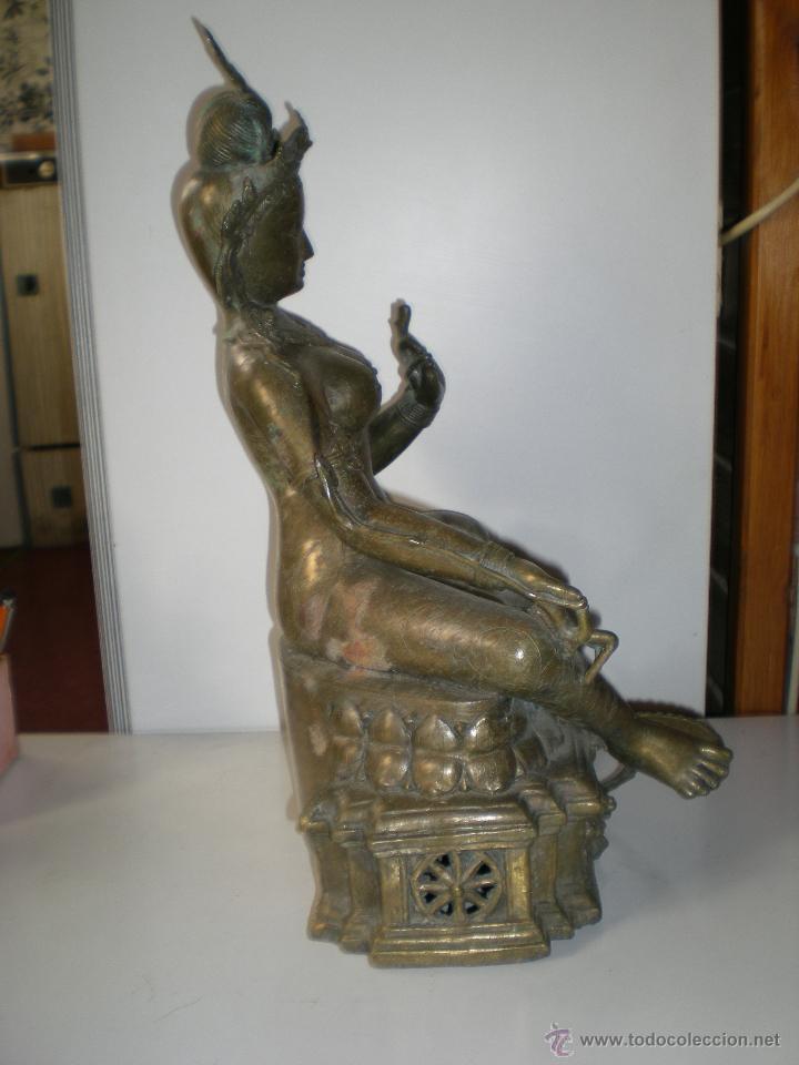 Arte: preciosa diosa SHIVA la india en bronce principios de siglo XX muy buen estado 44 cm - Foto 10 - 47697090