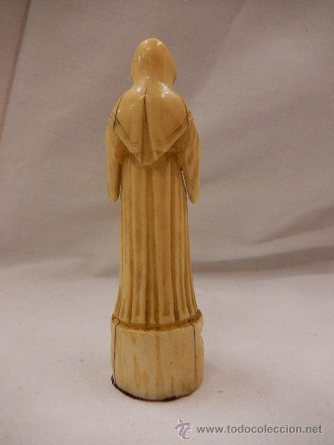 Arte: Figura de marfil. Virgen. Siglo XVII / XVIII. - Foto 3 - 47842413