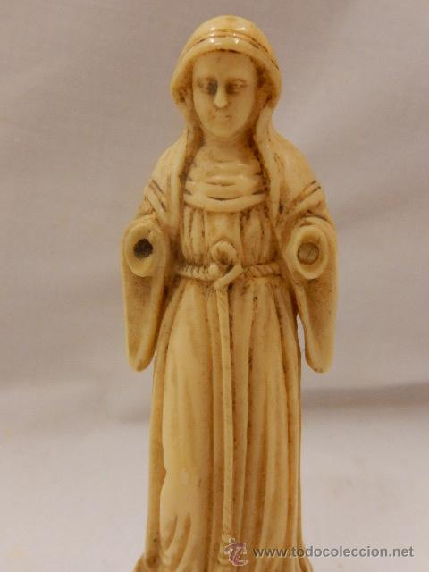 Arte: Figura de marfil. Virgen. Siglo XVII / XVIII. - Foto 5 - 47842413