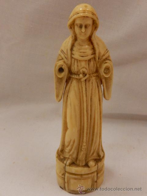 Arte: Figura de marfil. Virgen. Siglo XVII / XVIII. - Foto 11 - 47842413