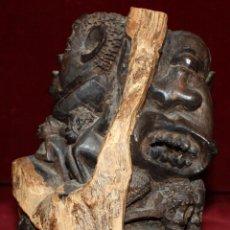 Arte: FIGURA DE MANUFACTURA AFRICANA EN MADERA TALLADA DE PRINCIPIOS DEL SIGLO XX. Lote 47974303