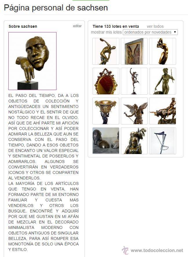 Arte: PRECIOSA ESCULTURA DE GRAN TAMAÑO, DEL DAVID DE BRONCE DE DONATELLO (64cm x 13,4kg) - Foto 10 - 40257269