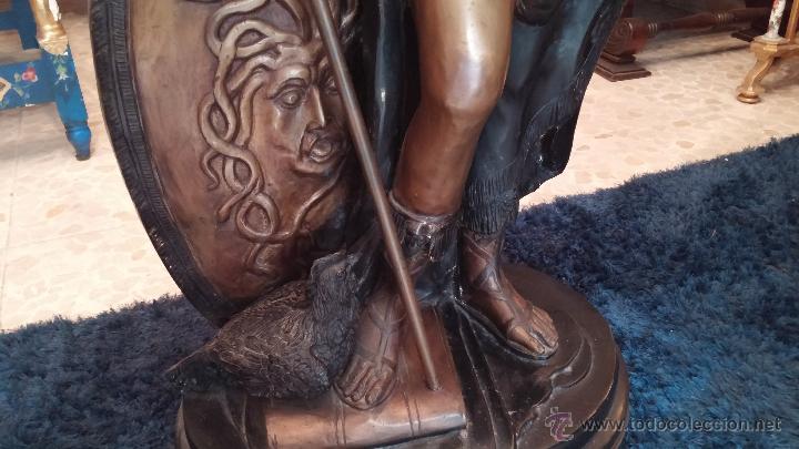 Arte: antigua Minerva en bronce de gran tamaño 1.23 cm - Foto 2 - 48275649