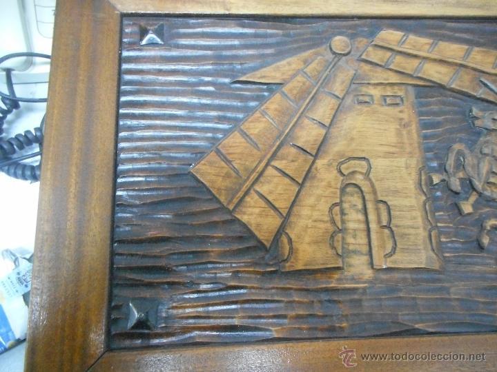 Arte: cuadro talla madera supongo escena quijote - Foto 3 - 48471073
