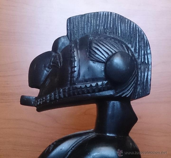 Arte: Antigua y original talla africana en madera de ébano macizo, tallado a mano . - Foto 10 - 48584351