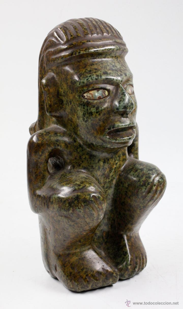FIGURA ÉTNICA DE PIEDRA 26 CM DE ALTURA, MUY PESADA. (Arte - Escultura - Piedra)