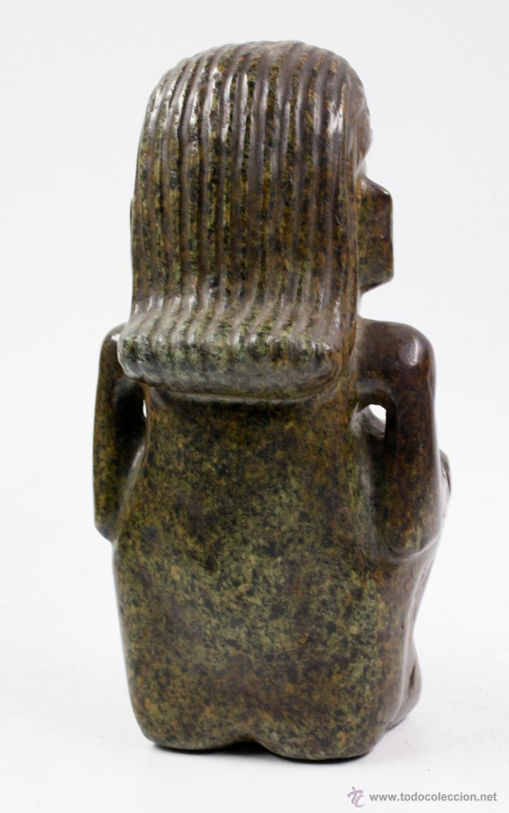 Arte: figura étnica de piedra 26 cm de altura, muy pesada. - Foto 3 - 49647426