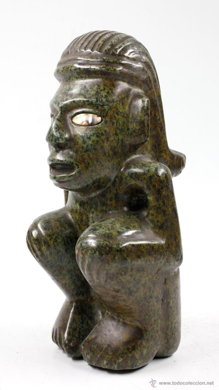 Arte: figura étnica de piedra 26 cm de altura, muy pesada. - Foto 4 - 49647426