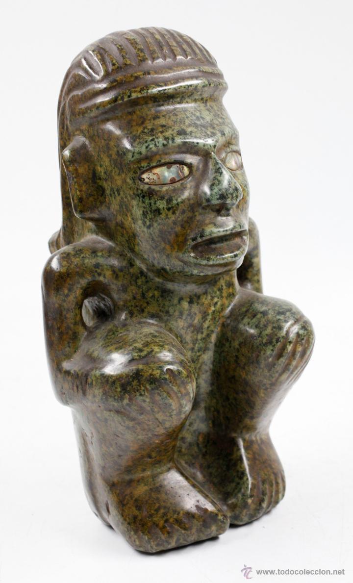 Arte: figura étnica de piedra 26 cm de altura, muy pesada. - Foto 5 - 49647426