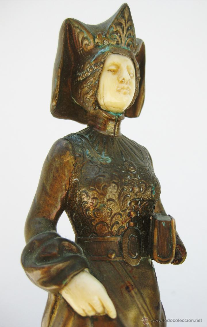 Arte: ESCULTURA CRISOELEFANTINA ART NOUVEAU MARFIL BRONCE MARMOLJEAN GARNIER Y C.VILLAIN - Foto 2 - 48936871