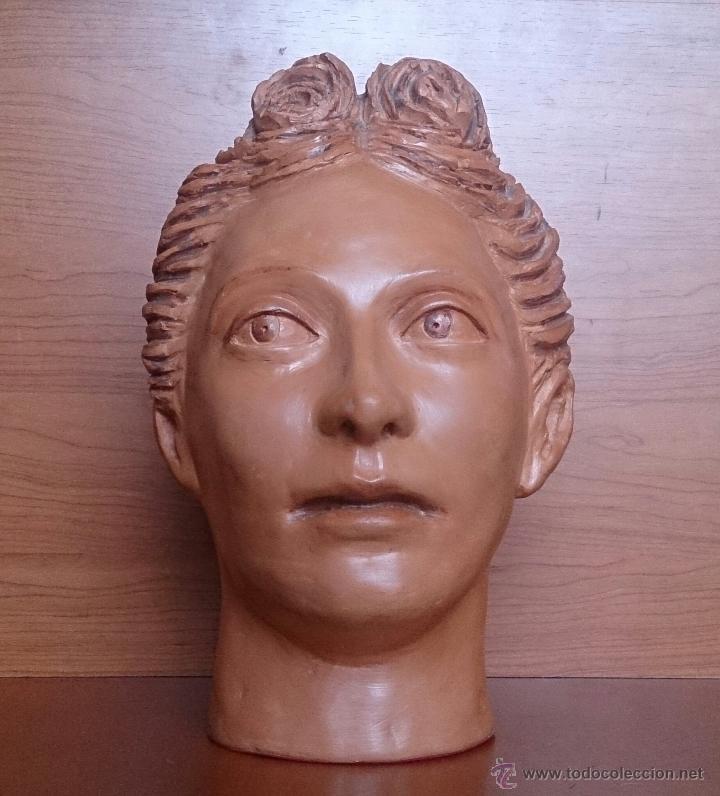 Arte: Busto antiguo de doncella en terracota ( año 1900 ) . - Foto 2 - 49082727