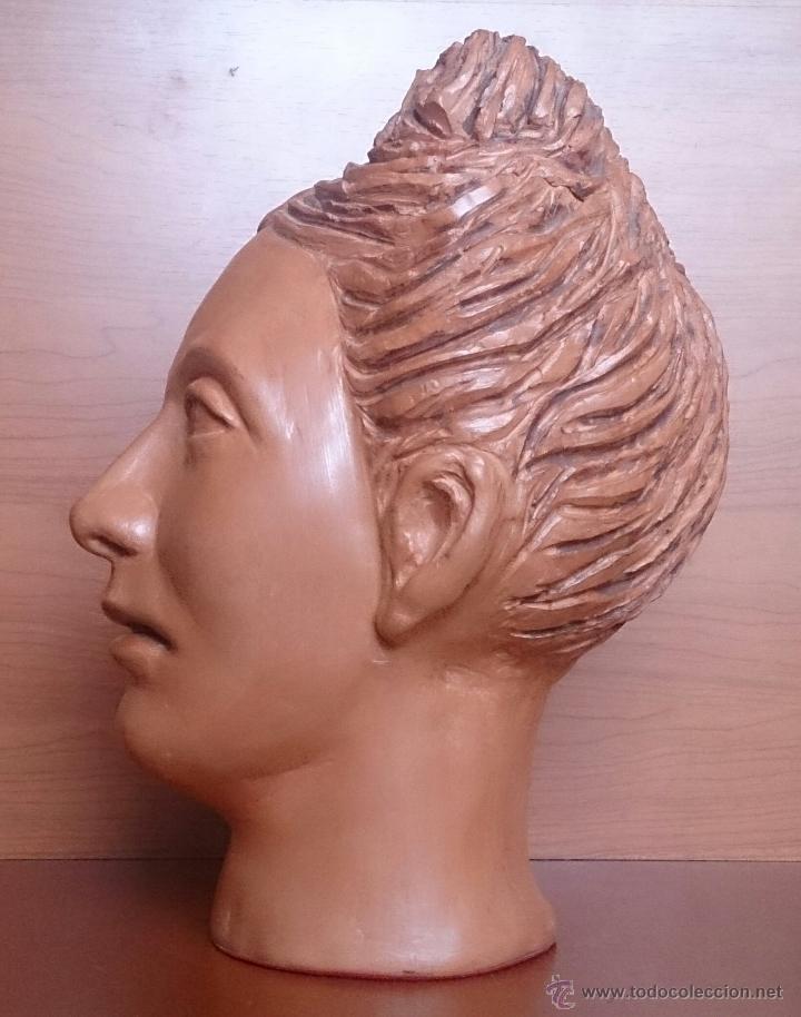Arte: Busto antiguo de doncella en terracota ( año 1900 ) . - Foto 3 - 49082727