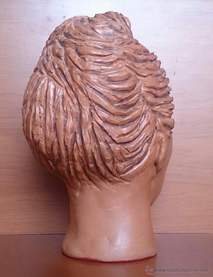 Arte: Busto antiguo de doncella en terracota ( año 1900 ) . - Foto 6 - 49082727