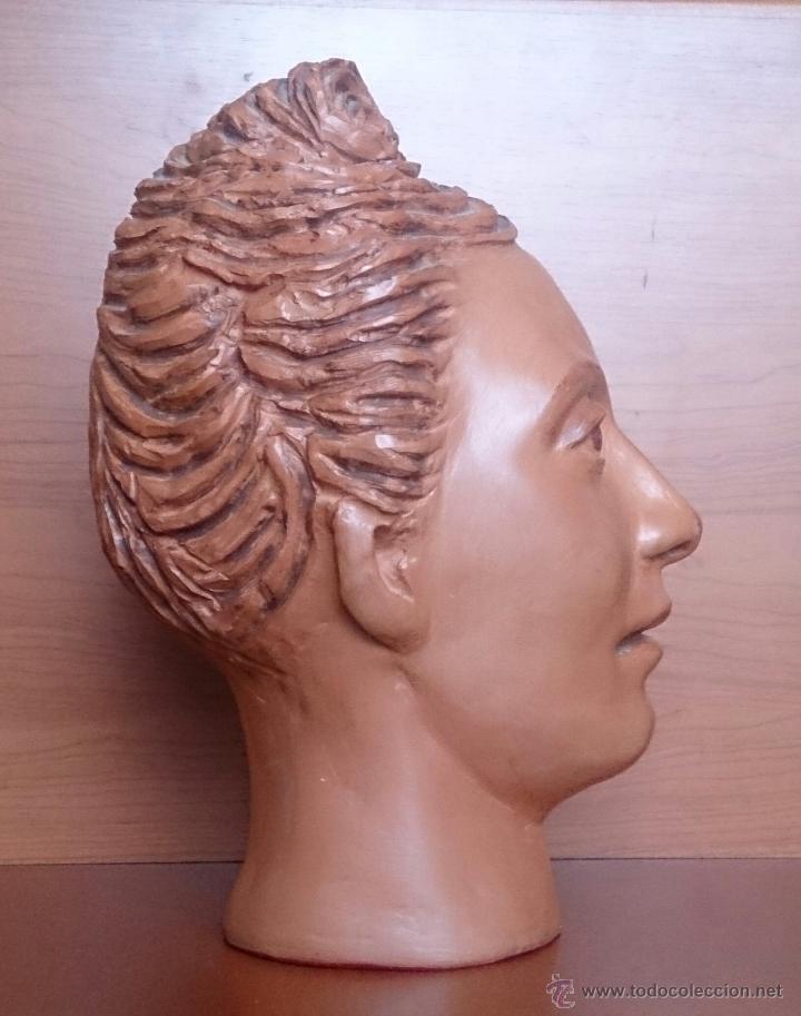 Arte: Busto antiguo de doncella en terracota ( año 1900 ) . - Foto 7 - 49082727