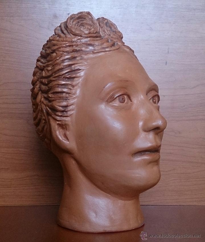 Arte: Busto antiguo de doncella en terracota ( año 1900 ) . - Foto 8 - 49082727
