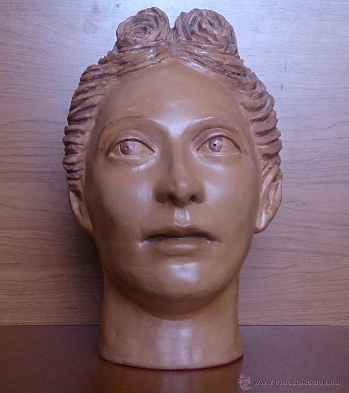 Arte: Busto antiguo de doncella en terracota ( año 1900 ) . - Foto 9 - 49082727