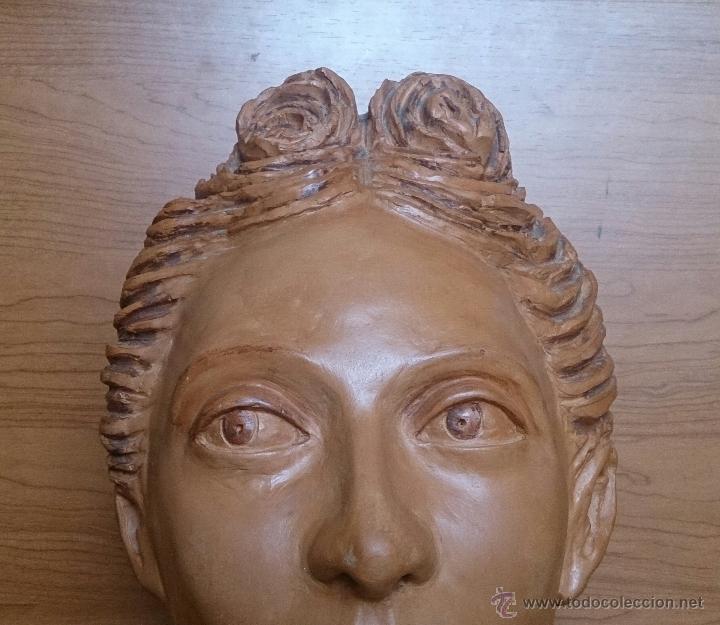 Arte: Busto antiguo de doncella en terracota ( año 1900 ) . - Foto 10 - 49082727