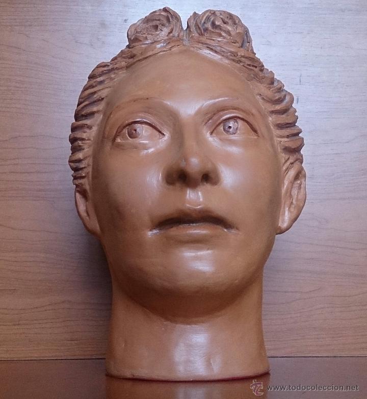 Arte: Busto antiguo de doncella en terracota ( año 1900 ) . - Foto 18 - 49082727