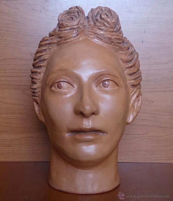 Arte: Busto antiguo de doncella en terracota ( año 1900 ) . - Foto 19 - 49082727