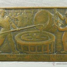 Arte: PLACA DE FUNDICIÓN. BRONCE. 1933.. Lote 49142907