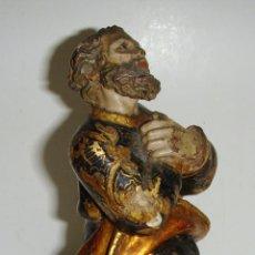 Arte: ANTIGUA TALLA DE MADERA. S.XVIII. SAN PEDRO. ESTOFADO Y POLICROMÍA DE ÉPOCA. MUCHA CALIDAD.. Lote 49183816