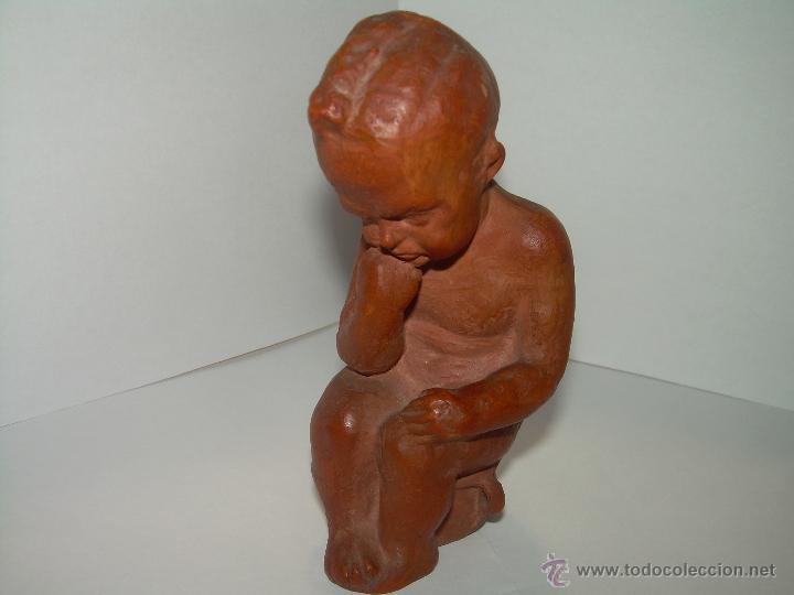 ANTIGUA Y MUY BONITA FIGURA DE TERRACOTA. (Arte - Escultura - Terracota )