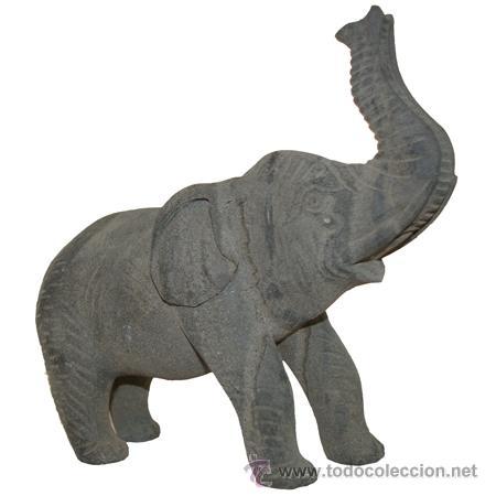 elefante de la suerte en piedra esculpido a mano pieza nica