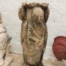 Arte - Capitel de estilo románico de finales del s.XIX de piedra triturada y compactada. - 89354738