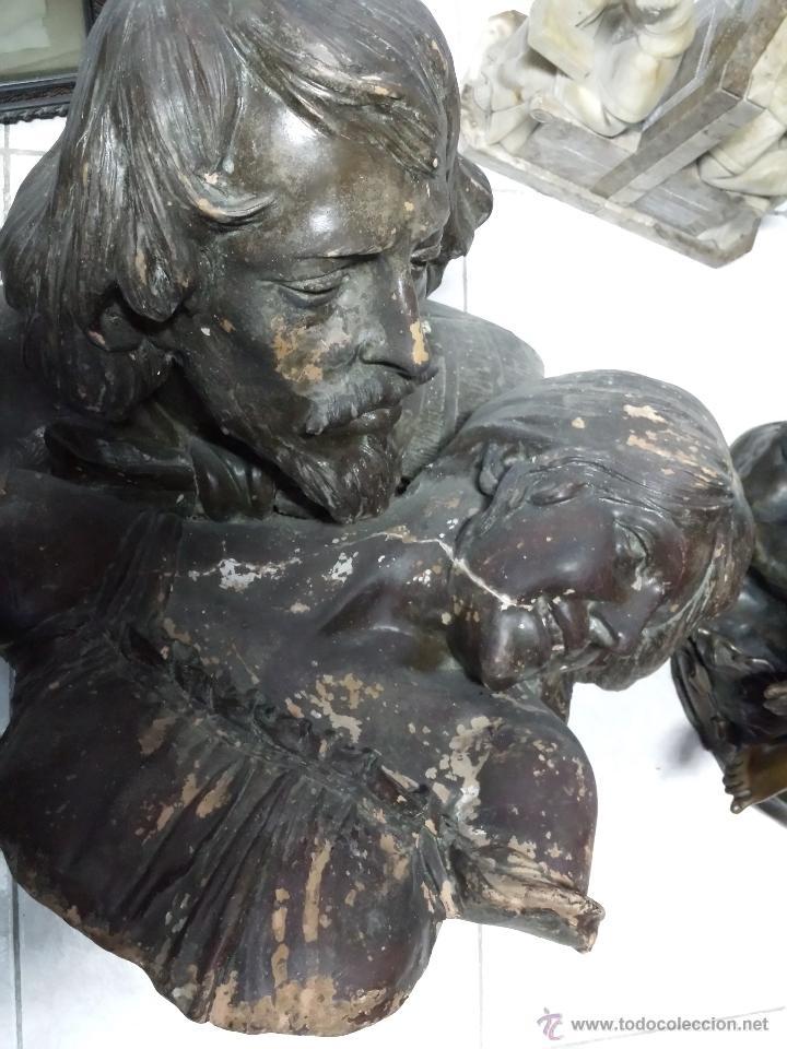 Arte: Busto de pareja en terracota . s.XIX-XX de Torcuato Tasso - Foto 2 - 49735279