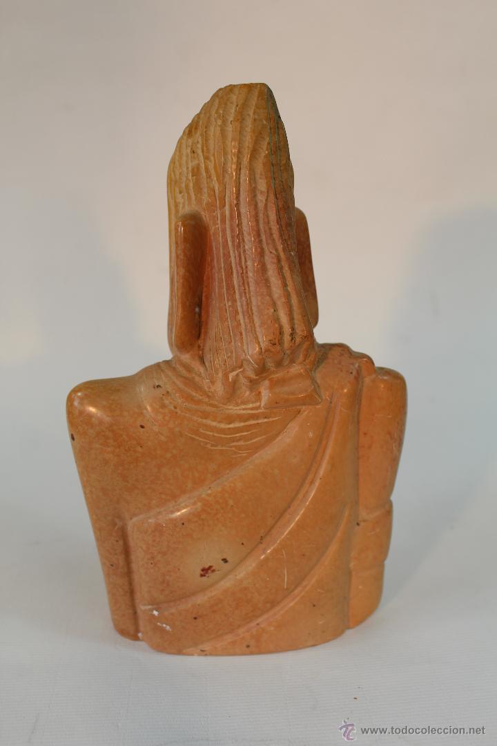 Arte: busto etnico tallado en piedra - Foto 3 - 49852784