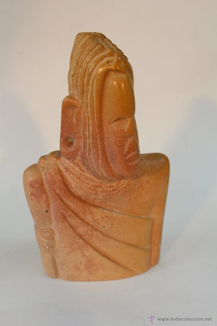Arte: busto etnico tallado en piedra - Foto 4 - 49852784