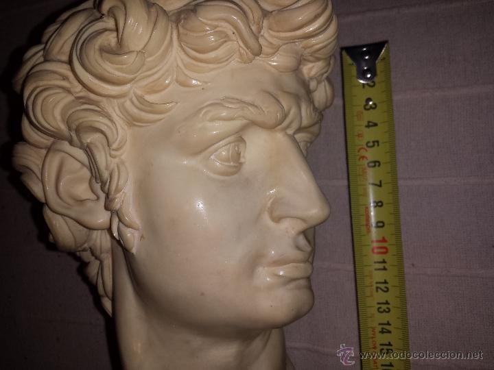 Arte: Busto de David de Miguel Angel de Gino Ruggeri, Italia 1970s - Foto 2 - 49856502