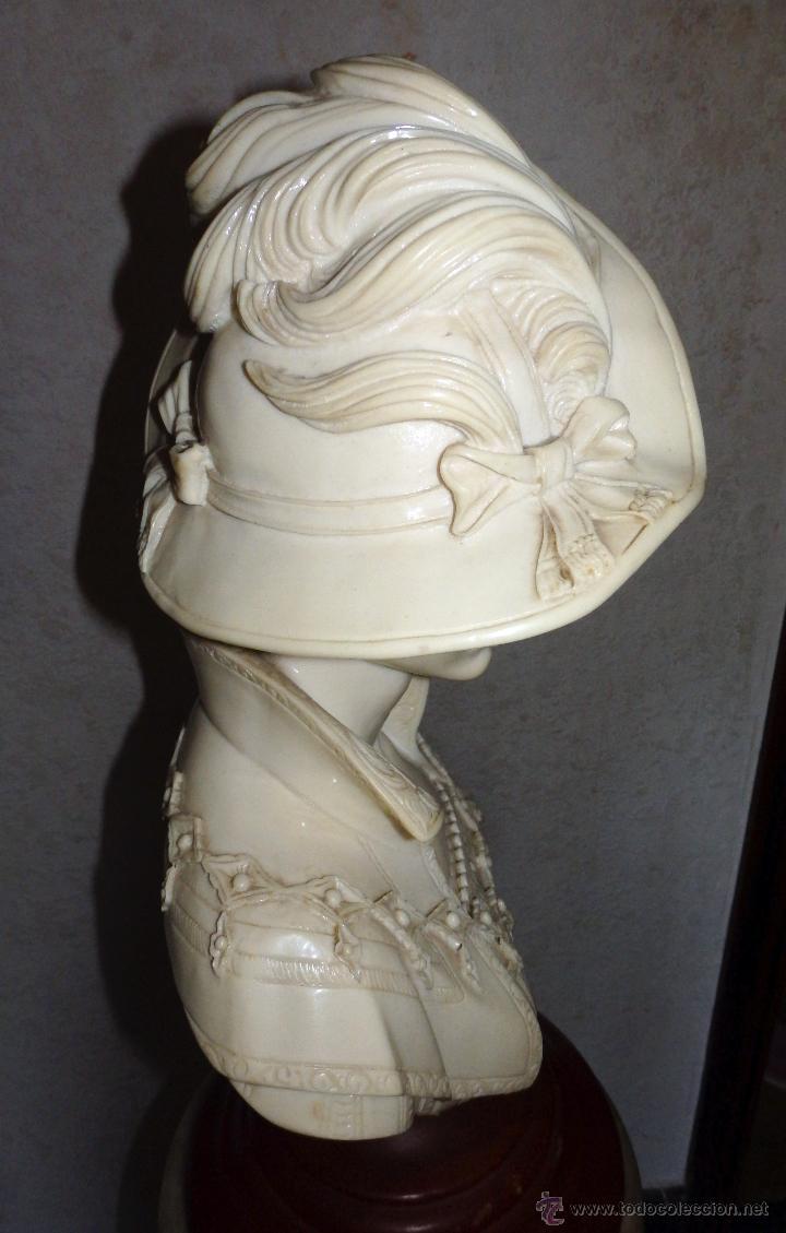 Arte: Elegante busto de mujer de época - Foto 2 - 50274993