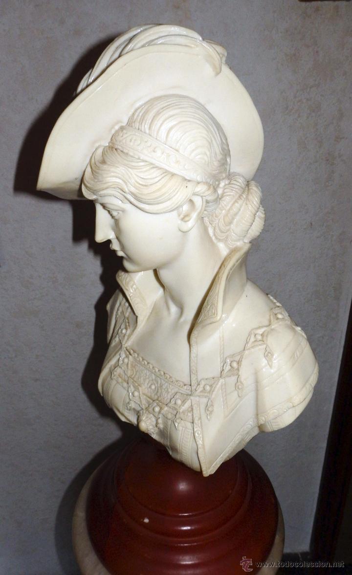 Arte: Elegante busto de mujer de época - Foto 3 - 50274993