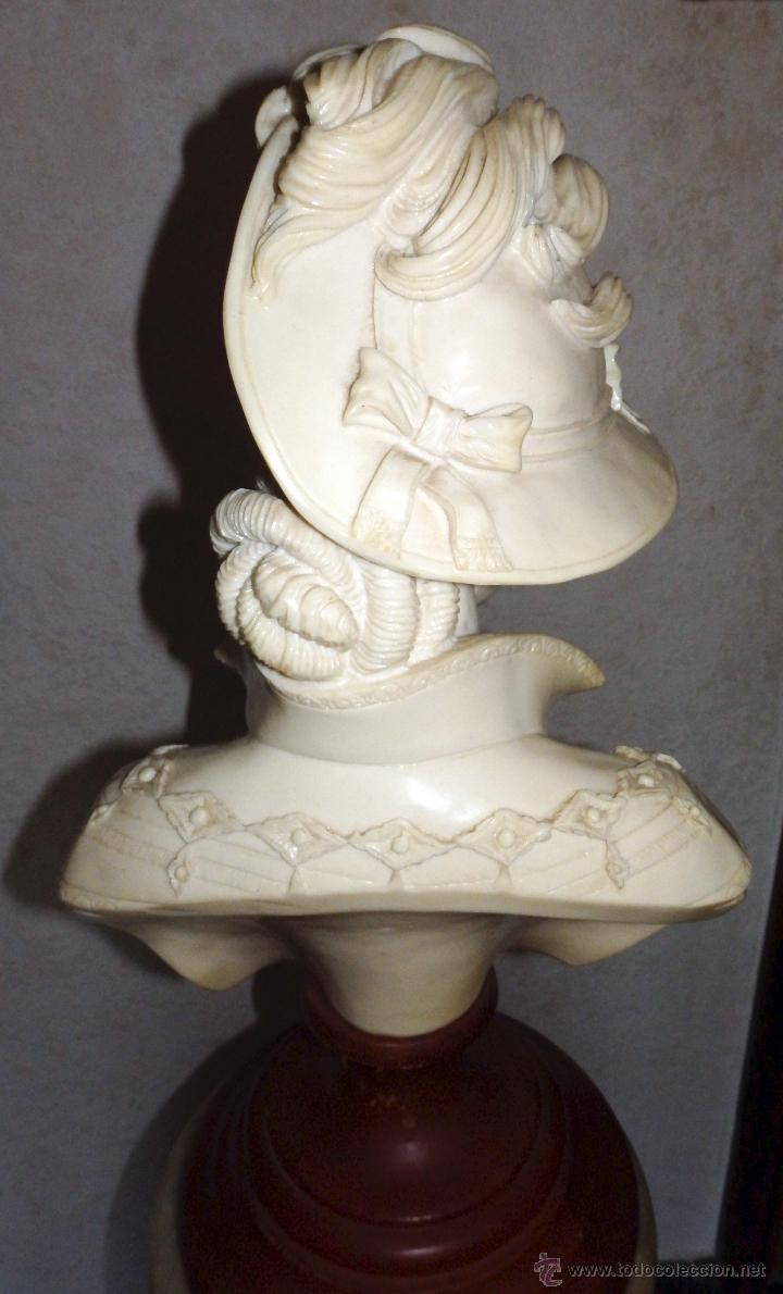 Arte: Elegante busto de mujer de época - Foto 4 - 50274993