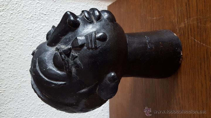 Arte: Interesante y misteriosa escultura vintage (cabeza de mujer) sin firma - Foto 2 - 50534215