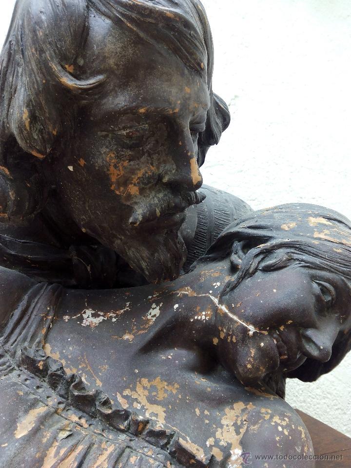 Arte: Busto de pareja en terracota . s.XIX-XX de Torcuato Tasso - Foto 4 - 49735279