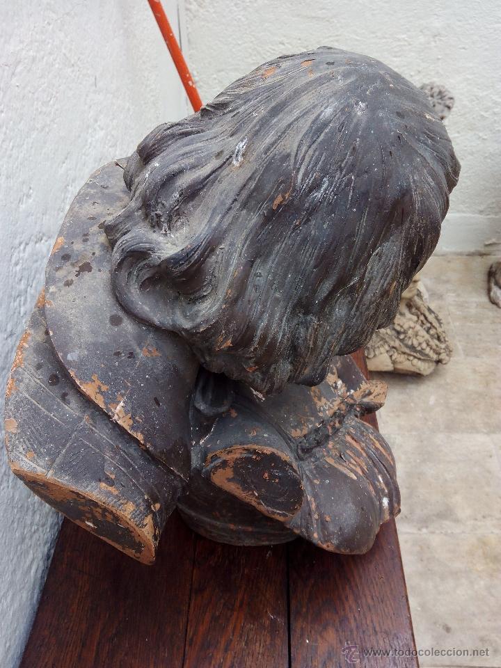 Arte: Busto de pareja en terracota . s.XIX-XX de Torcuato Tasso - Foto 5 - 49735279