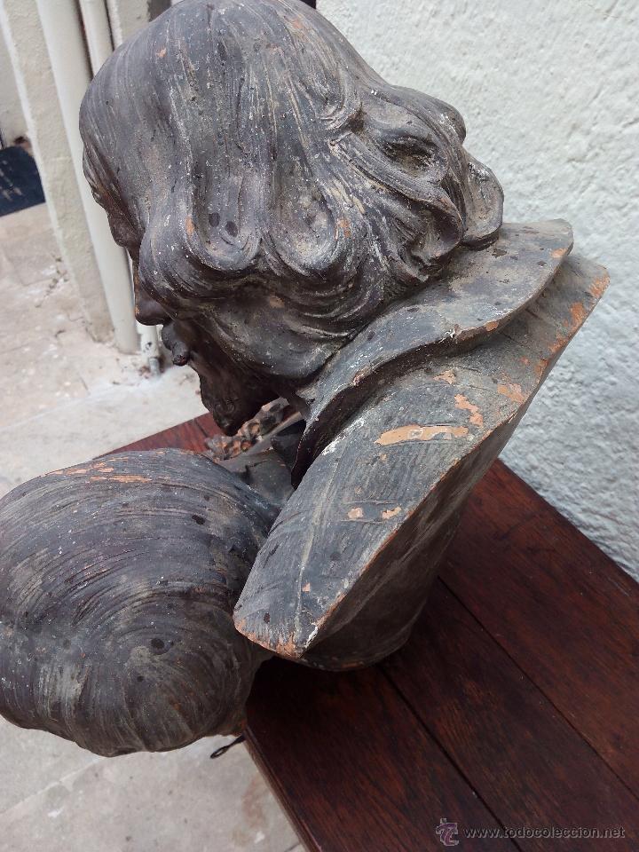 Arte: Busto de pareja en terracota . s.XIX-XX de Torcuato Tasso - Foto 7 - 49735279