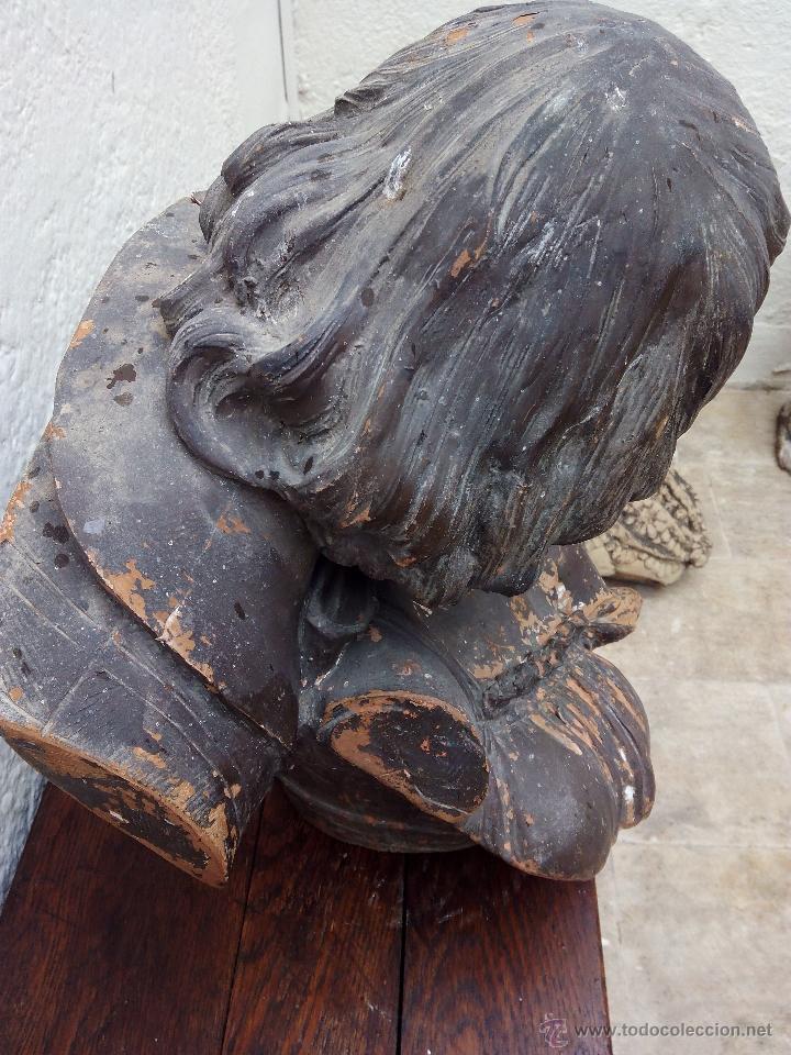 Arte: Busto de pareja en terracota . s.XIX-XX de Torcuato Tasso - Foto 8 - 49735279