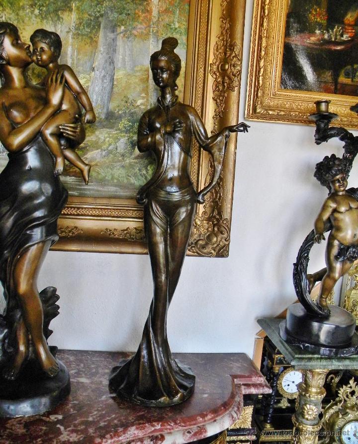 Muy bella decorativa escultura en bronce bailar comprar esculturas de bronce antiguas en - Escultura decorativa ...