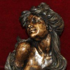 Arte: MARIA VIDAL QUADRAS (SANT PERE DE RIBES, 1930) GRAN BUSTO FEMENINO REALIZADO EN BRONCE. Lote 52138837
